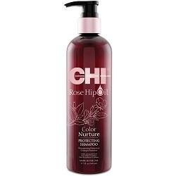 CHI Color Nurture shampoo – šampon pro barvené vlasy s šípkovým olejem 340ml
