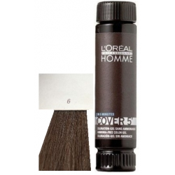 Loreal Professionnel Homme Cover 5 Hair Color 1 lahvička 50ml - 6 Tmavá blond